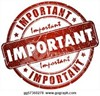 "round logo stating ""important"""