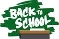 Back to school logo on chalkboard