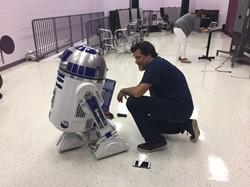 Mr. Bickert with R2D2