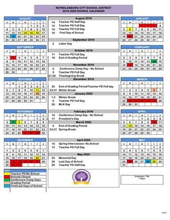 2019-20 District Calendar