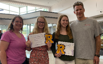 Sarah & Rebekah with their Academic Letters