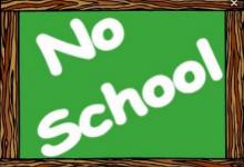 no school on chalkboard