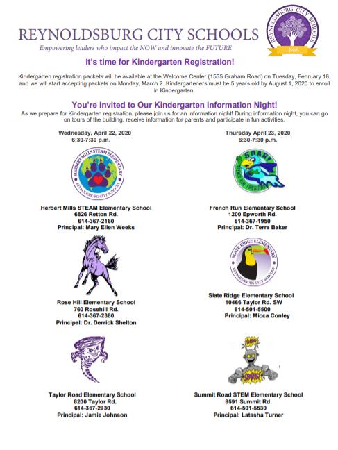 Kindergarten Info Night Flyer
