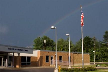 School with rainbow
