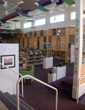 photo of different view of entrance to the library/museum classroom.