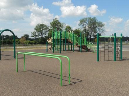 photo of equipment on large playground area.