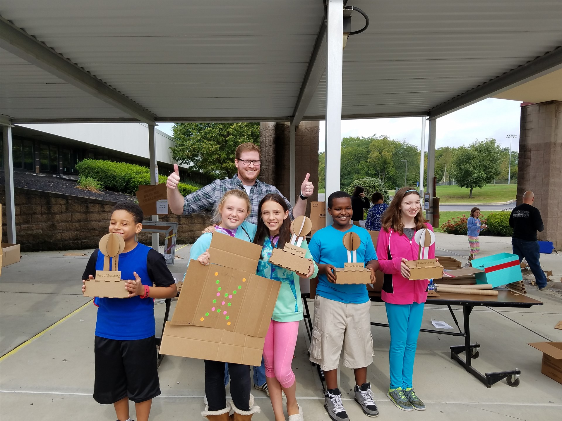 WRMS students showing off projects
