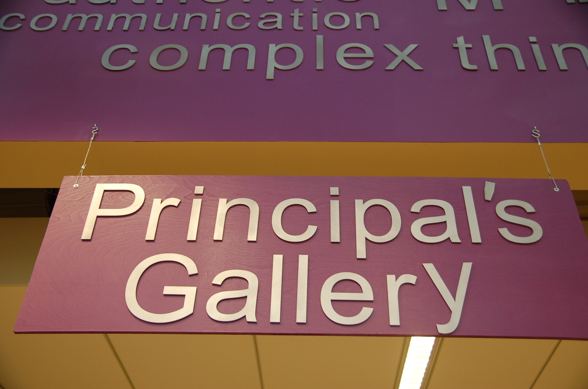 photo of above title signage of Principal's Exemplar area.