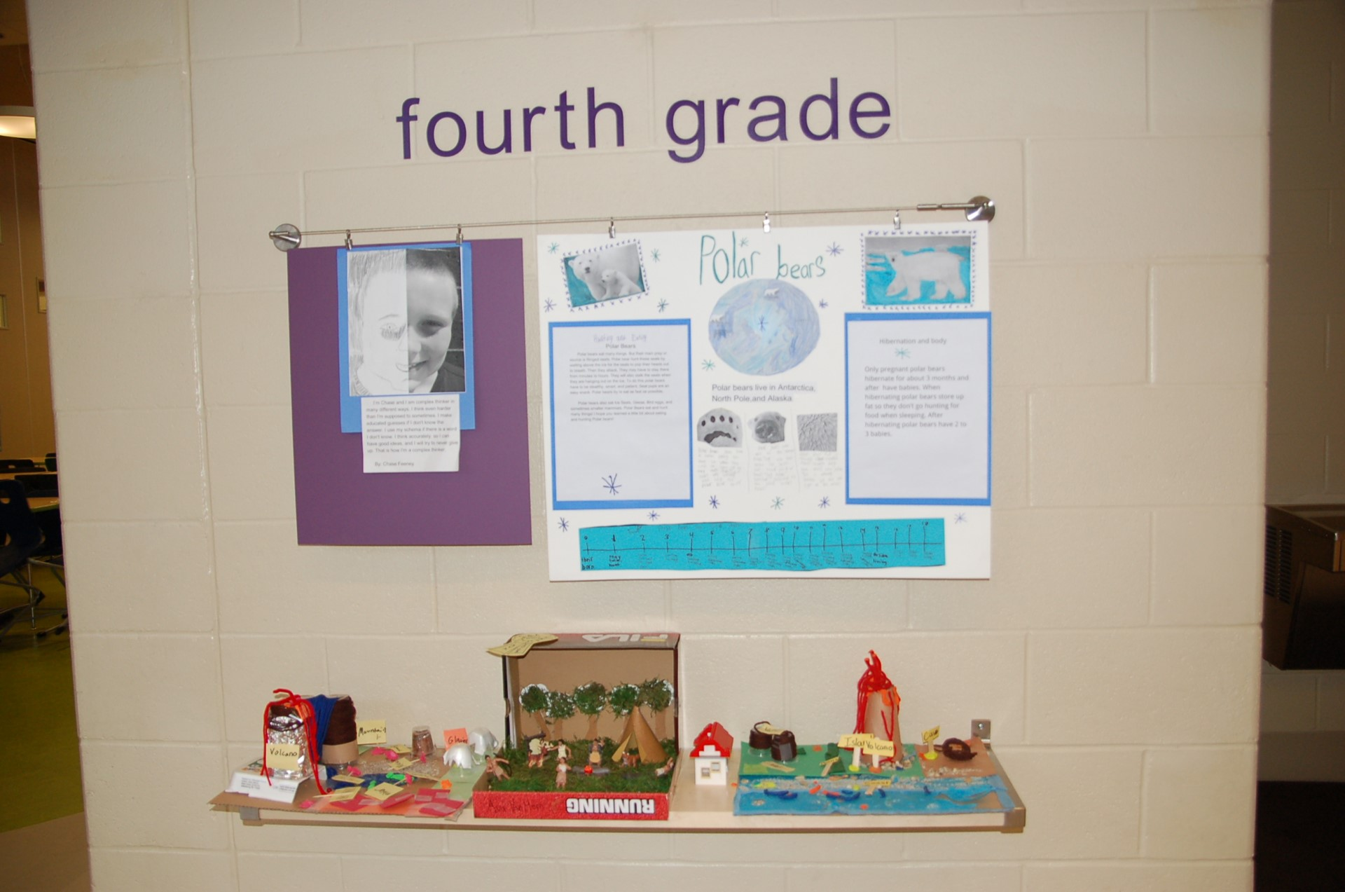 Principal's Gallery showing fourth grade area.