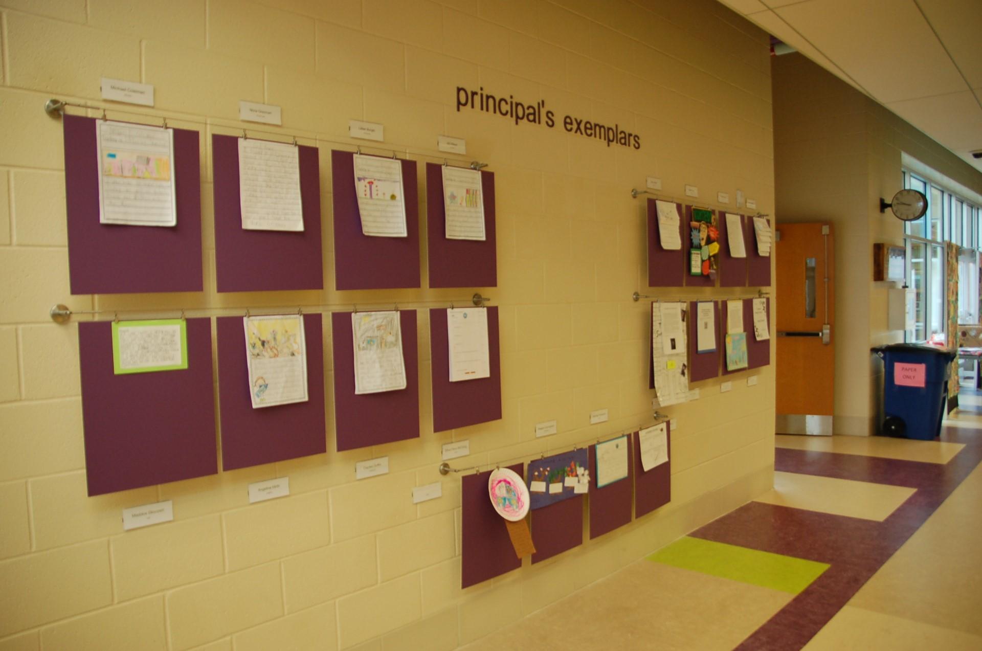 Principals' Exemplar Display Area.