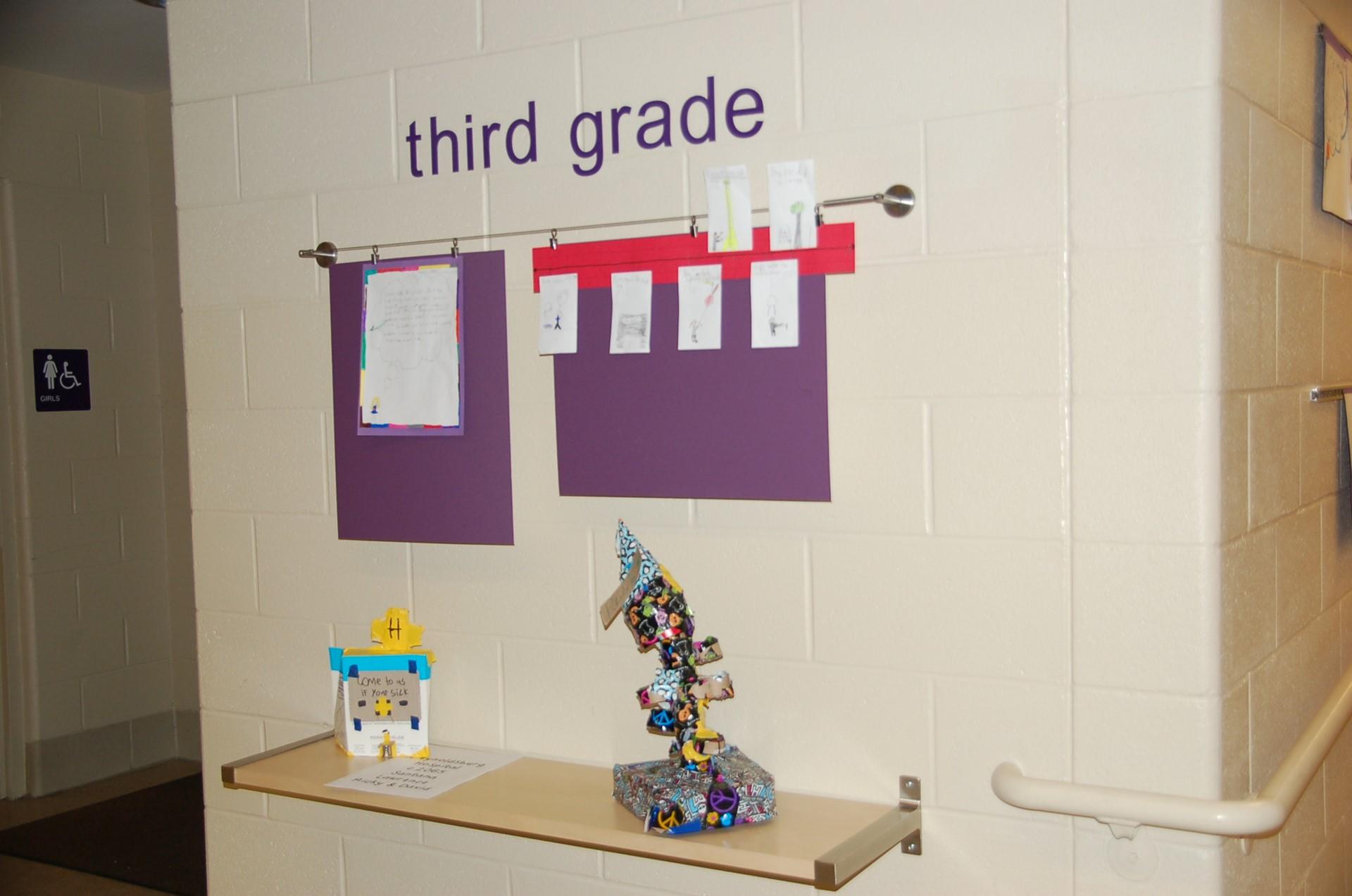 Principal's Gallery showing third grade area.