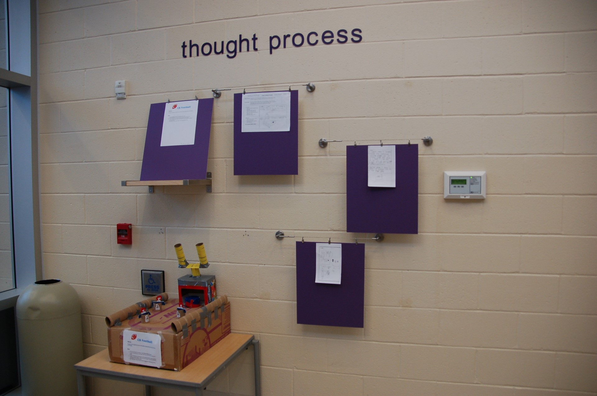 Principal's Gallery showing thought process in assignments.