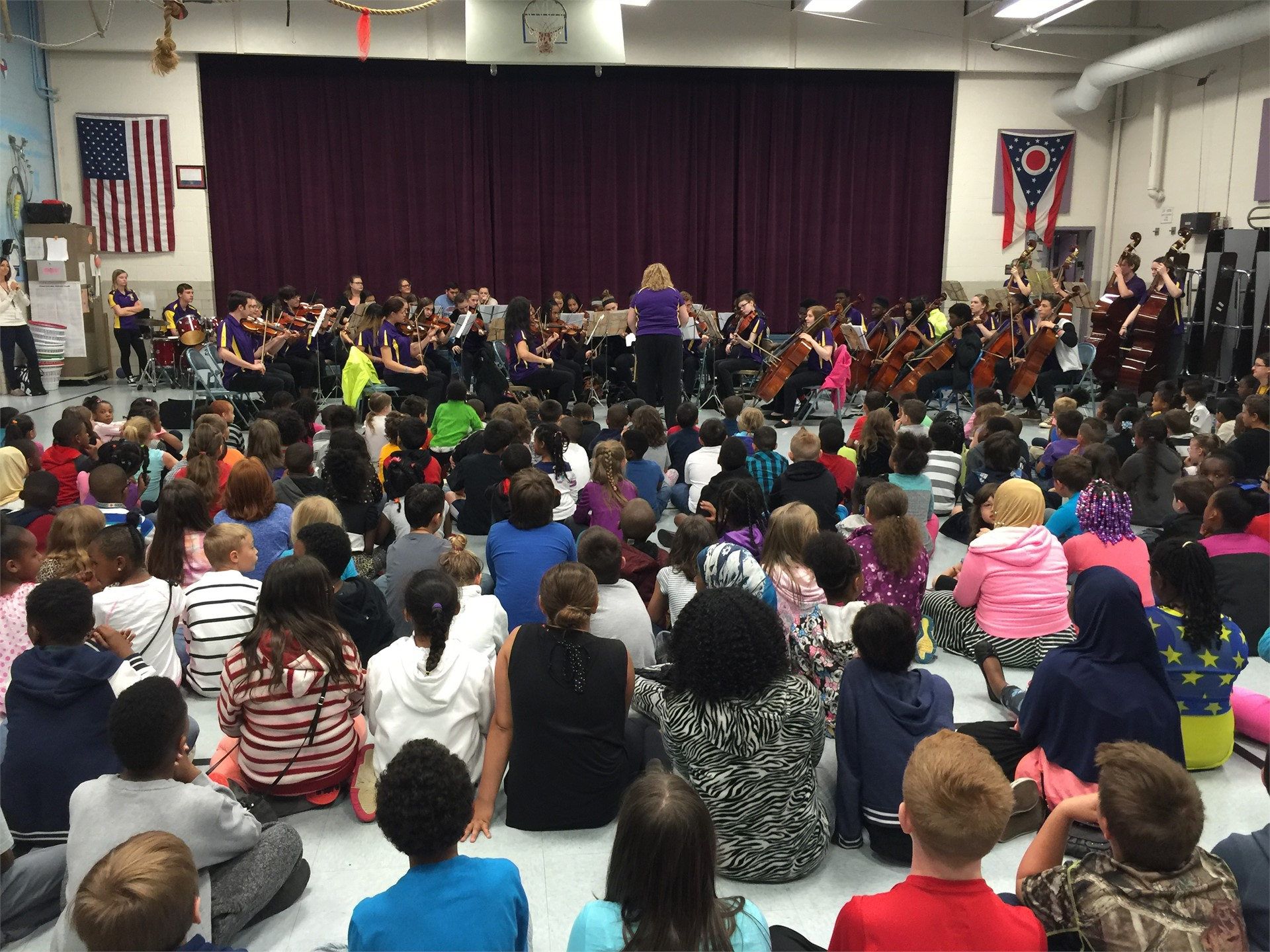 RHS Orchestra Visited Rose Hill on 4/29!