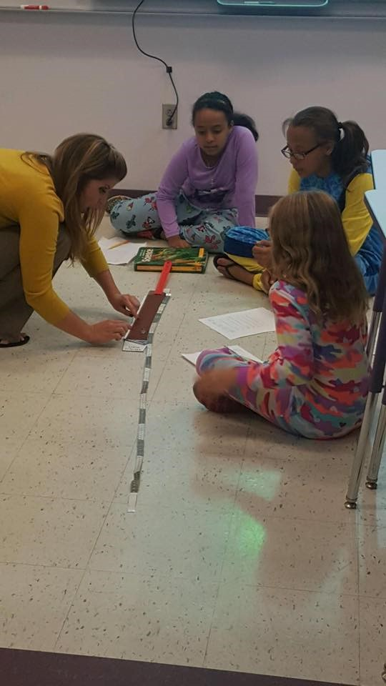 Students and Teacher working on a project