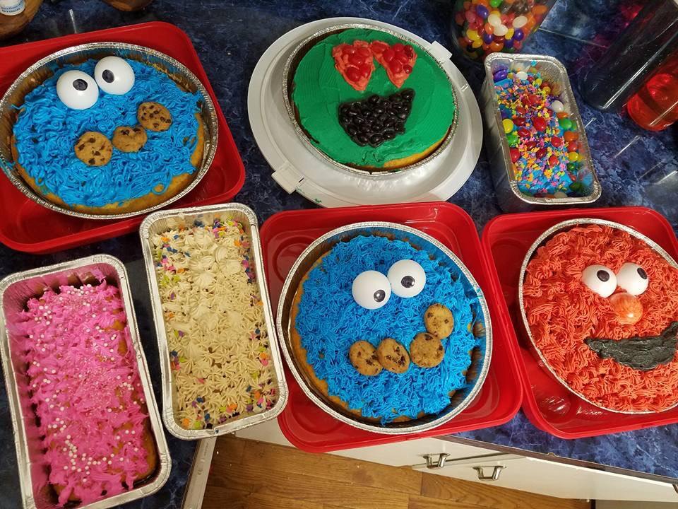 Cake Walk Cakes at the Spring Carnival