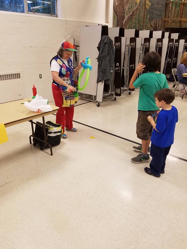 Balloon art at the Spring Carnival! Thank you PTO!