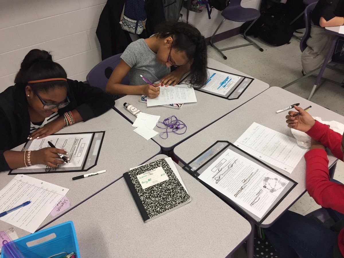 WRMS Students studying