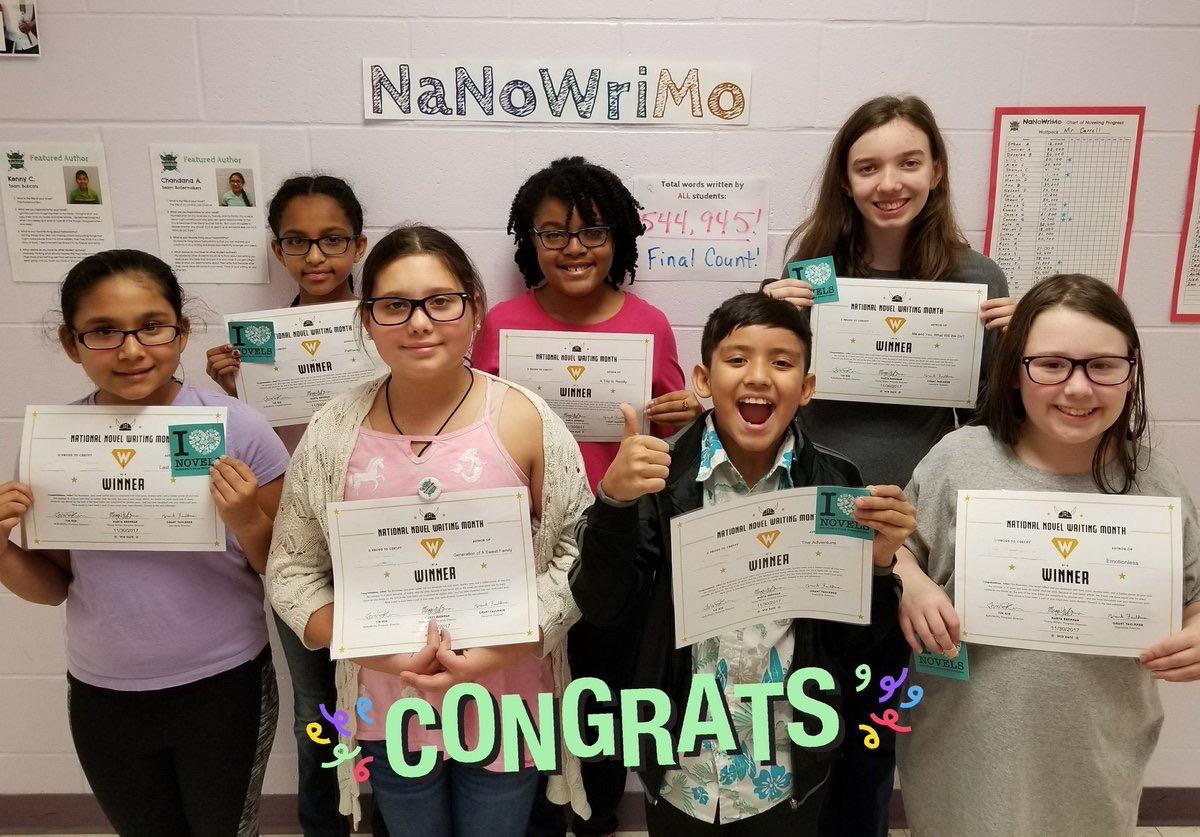 NaNoWriMo Winners