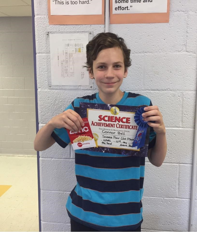 7th Grade Science Fair Winner