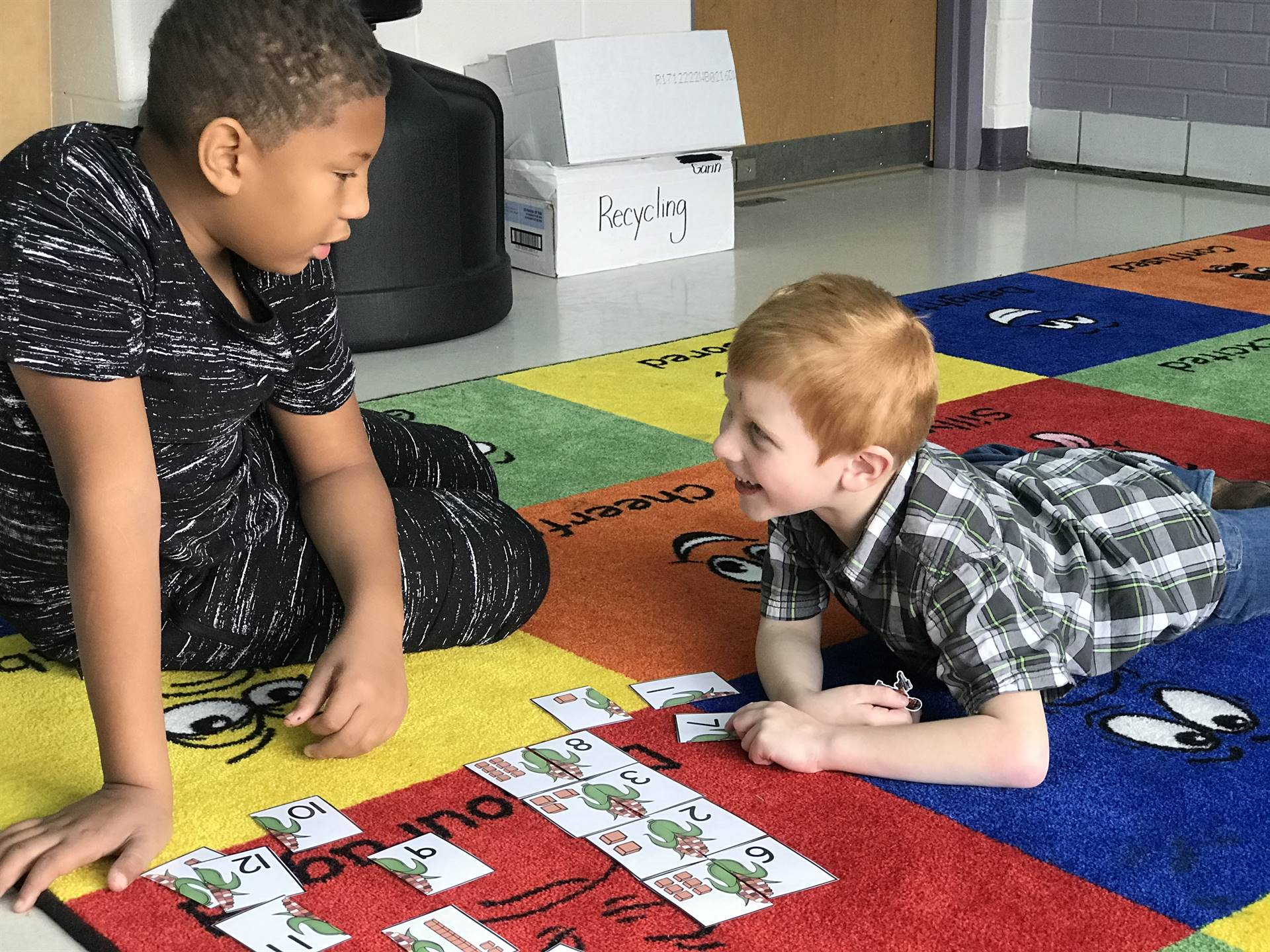 Kindergarten buddy teaches a lesson!