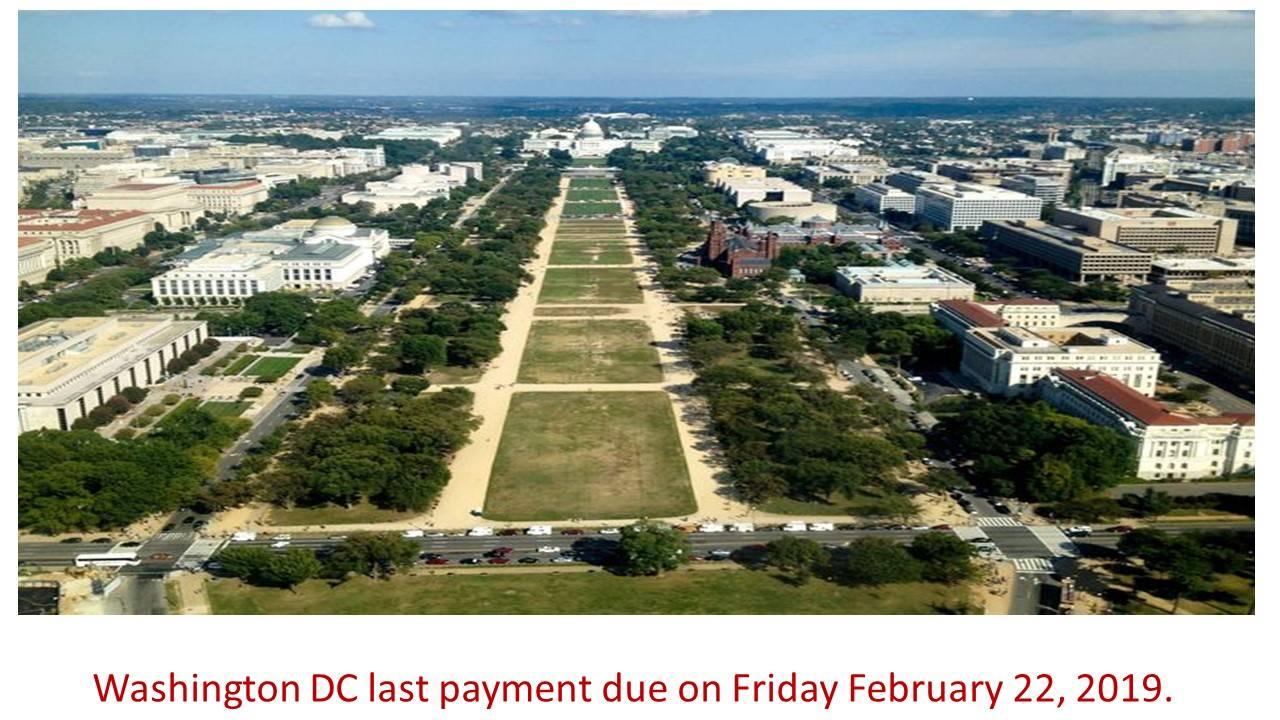 Washington DC payment due
