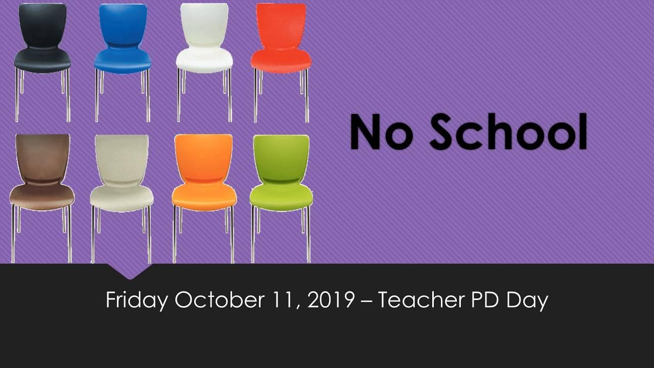 No School October 11