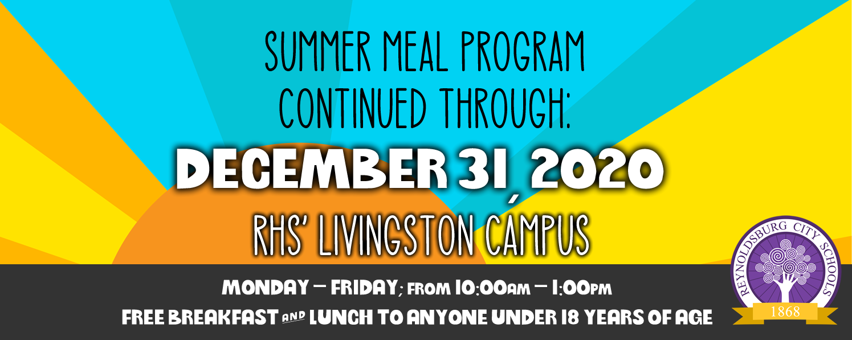 Summer Meals Program Extended