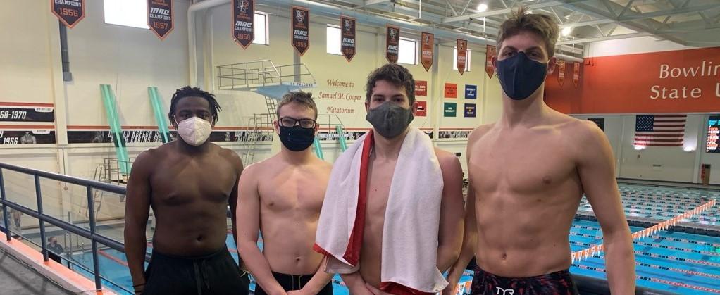 Boys Swim Team at Districts