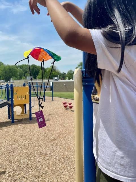 1st Grade Explores Gravity with Parachutes!