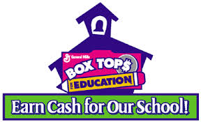 """General Mills Box Tops Logo """"Earn Cash for our School"""""""