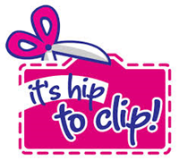 """Scissors clipping coupon stating """"it's hip to clip!"""""""