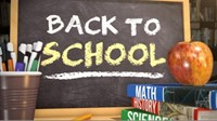 Back to School books and chalkboard