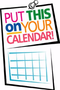 Mark this on your calendar