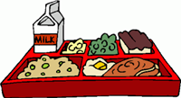 school lunch tray - ALL student meals are free at TRE 2020-2021 school year