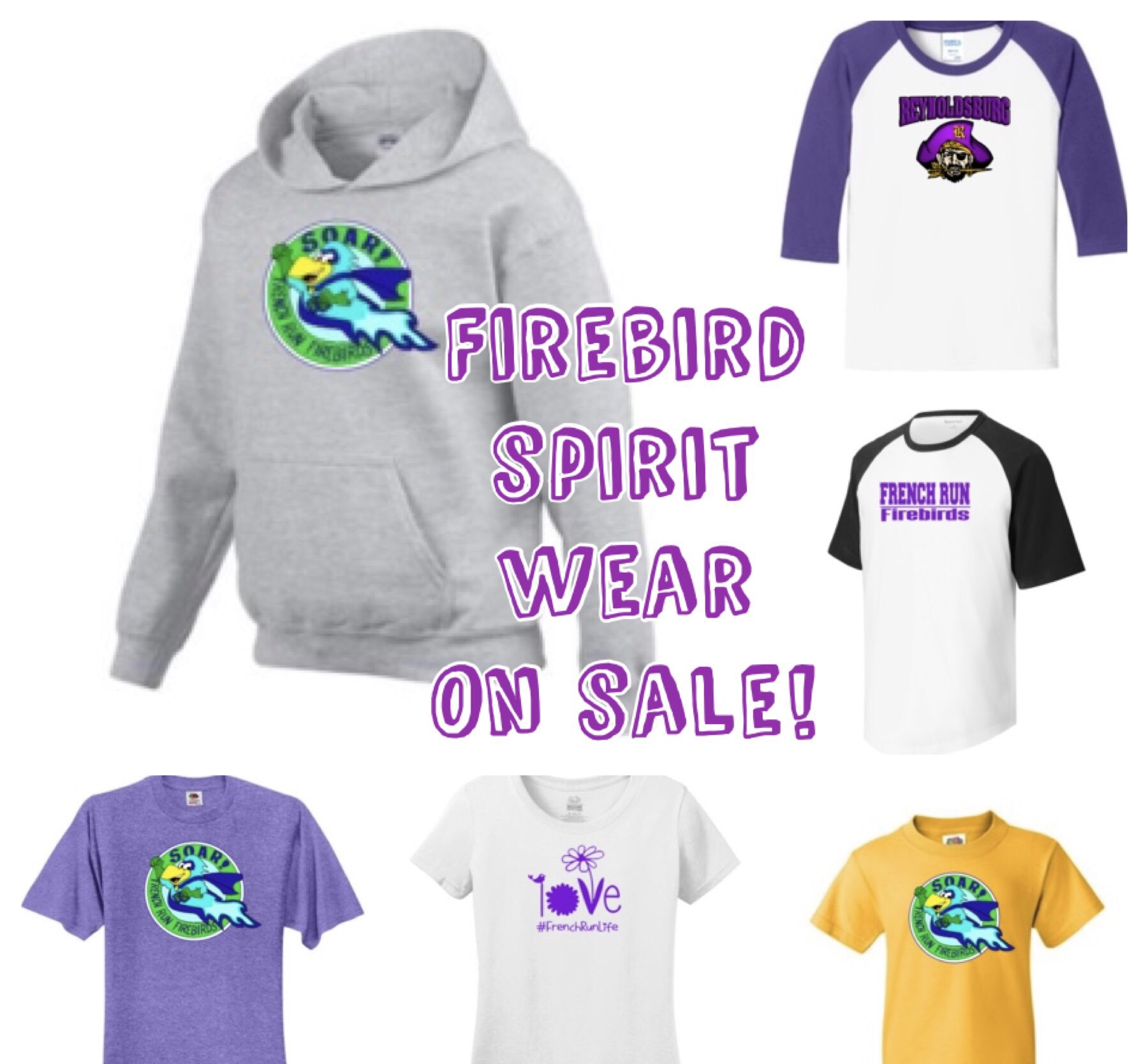 Selection of spirit wear shitrs
